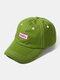ユニセックスコットンレター刺繡パターン屋外サンシェード野球帽 - 緑