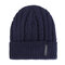 Men Winter Wool Knit Cap Warm Ear Thick Vogue Vintage Outdoor Casual Snow Ski Cycling Beanie - Blue