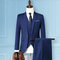 Three Pieces Business Wedding Slim Fit Evening Party Dressing Suit for Men - Blue