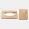 Multifunctional Leather Car Storage Bag Visor Cover Card License Holder Hanging Tissue Bag Glasses Folder - Beige