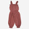 Girl's Solid Color Ruffled Sleeveless Casual Jumpsuit For 1-5Y - Red
