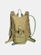 Men Oxford Cloth Tactical Camouflage Outdoor Riding Climbing Sport Water Bottole Pocket Backpack - #01