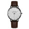 Sports Business Women Watch Large Three-Hand Smooth Dial Leather Band Calendar Quartz Watch - 03