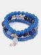 Vintage Multicolor Beautiful Opal Bracelet Temperament Multi-layer Tassel Bracelet - #14