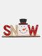 1Pc Christmas Festival Decorations Wooden Letter Decoration Desktop Creative Printing Decoration - #02