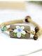 Vintage Hand-kneaded Flowers Rectangular Ceramic Bracelets - Blue