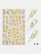 3D Holographic Nail Art Stickers Colorful DIY Butterfly Nail Transfer Decals - #03