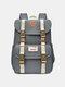 Women Waterproof Patchwork Large Capacity Travel Backpack School Bag - Dark Gray