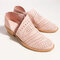 Women Casual Soft Breathable Hollow Zipper Ankle Boots - Pink