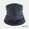 Ice Silk Sunscreen Turban Triangle Scarf Breathable Sunscreen Riding Mask - Black
