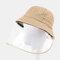 COLLROWN Detachable Sun Visor Fisherman Hat Anti-fog Cover Face - Khaki