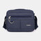 Men Casual Waterproof Phone Bag Crossbody Bag - Dark Blue