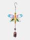1 unidade Colorful Dragonfly Beija-flor Pingente Sino Tubo Wind Chimes Interior Exterior Jardim Enfeites de Decoração para Casa - #06