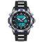 Reloj deportivo digital para hombres Reloj de silicona de silicona Calendario Luminoso Reloj digital con doble pantalla