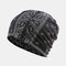Women's Ethnic Cotton Beanie Vintage Elastic Hat Breathable Turban Cap - Black