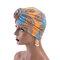 Berretto da donna con turbante in cotone da donna con cappuccio retro regolabile Soft