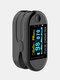 Finger-Clamp HD OLED Pulse Oximeter Finger Blood Oxygen Saturometro Heart De Oximeter Portable Pulse Oximetro Monitor - Black