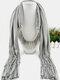 20 Colors Bohemian Women Scarf Necklace Shawl Autumn Winter Tassel Pendant Necklace - #12
