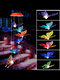 1PC LED Solar Power Butterfly Wind Chime Color Changing Night Light Lamp Home Garden Yard Decoration - Red