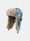 Men Artificial Fur Dacron Camouflage Soviet Badge Thicken Warmth Ear Protection Cold-proof Trapper Hat - #12