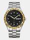 Large Dial Men Business Watch Steel Band Luminous Calendar Waterproof Quartz Watch - #03