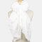 Women Polyester Solid Color Silk Muslim Ethnic Turban Hijab - White