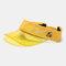 Embroidery Outdoor Empty Top Hat Sun Visor Sun Hat - Yellow