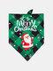 6 Pcs Christmas Pet triangle Scarf Pet Saliva Towel Double-Sided Dog Bandana Scarf Pet Supplies - #06