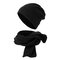 Unisex Invierno Cálido Color Sólido Polar Fleece Sombrero al aire libre Ciclismo Indoor Snow Keep Warm Beanie bufanda