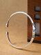 Elegant 925 Silver Plated Women Ring Adjustable Handshake Positive Energy Tail Ring - Silver