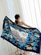 Women Multi Print Beach Shawl Sun Protection Cover Up Swimsuit - #12