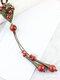 Vintage Multi-type Geometric Beaded Ceramics Alloy Long Sweater Necklace - #05