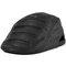 Men Leather Warm Winter Adjustable Thickening Comfortable Vintage Beret Cap - Black