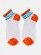 جوارب نسائية من القطن والحرير والزجاج بلون مغاير اللون - البرتقالي