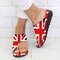 large Size Women Casual Clip To Orthopedic Bunion Corrector Slide Wedges Slippers - Red