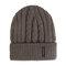 Men Winter Wool Knit Cap Warm Ear Thick Vogue Vintage Outdoor Casual Snow Ski Cycling Beanie - Khaki