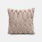 Geometrische Plüsch einfarbige Kissen Schlafzimmer Sofa Kissen Zimmer Living Square Kissenbezug - Rosa