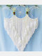 1 PC Handmade Multicolor Triple Moon Dream Catcher A Gift of Love and Healing Bedroom Home Decor Wall Hanging Ornaments - White