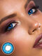 2Pcs Love Words Cosplay Non-prescription Yearly Colored Contact Lenses - Blue