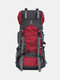 Men 60L Super Larger Capacity Waterproof Outdoor Camping Hiking Travel Backpack - Red