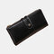 Women Genuine Leather RFID 6.3 Inch Phone Long Wallet Purse - Black