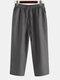 Mens Oriental Cotton Linen Ankle-Length Pants - Dark Grey