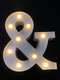 LED English Letter And Symbol Pattern Night Light Home Room Proposal Decor Creative Modeling Lights For Bedroom Birthday Party - #27