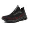 Men Knitted Fabric Light Weight Sport Running Casual Sneakers