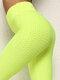 Famous Tiktok Bubble High Waist Buttocks Yoga Leggings For Women - Yellow