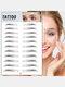 3D Eyebrow Tattoo Sticker Long Lasting Waterproof False Eyebrows Cosmetics - 13 Black