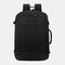 Men Polyester 15.6 Inch USB Charging Anti theft Business Laptop Bag Backpack - Black