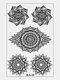 24個の一時的な入れ墨のステッカー羽曼荼羅花羽鎖骨セクシーな水移動ステッカー - 04