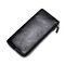 Men Genuine Leather Slim Multi-function Long Wallet Card Holder Phone Bag