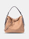 Retro Faux Leather Waterproof Large Capacity Crossbody Bag - Apricot